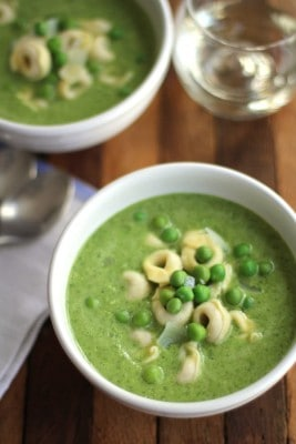 2 bowls of pea soup