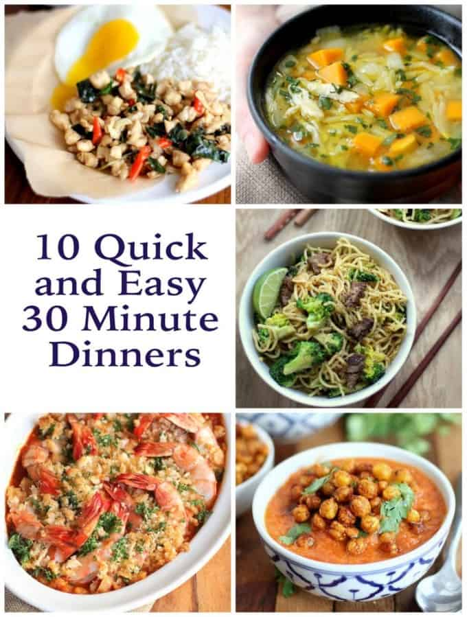 quick and easy 30 minute dinners