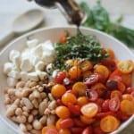 Caprese White Bean Salad via @inquiringchef