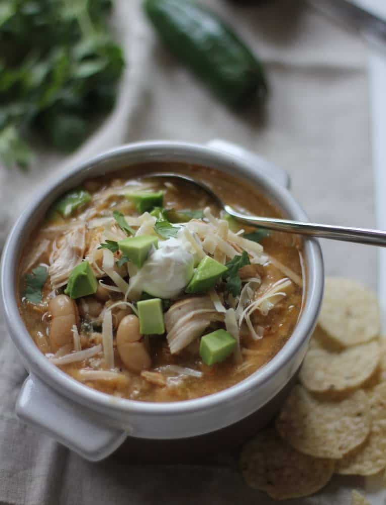White Chicken Chili - Pressure Cooker