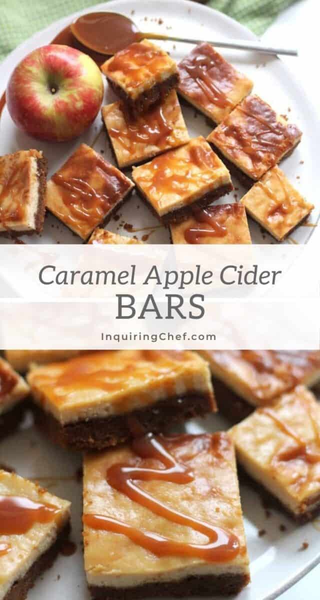 caramel apple cider bars