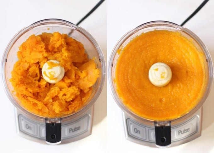 butternut squash in the food processor