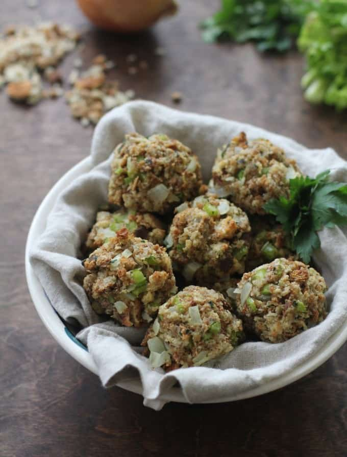 Stuffing Balls in a bowl