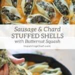 sausage and chard stuffed shells