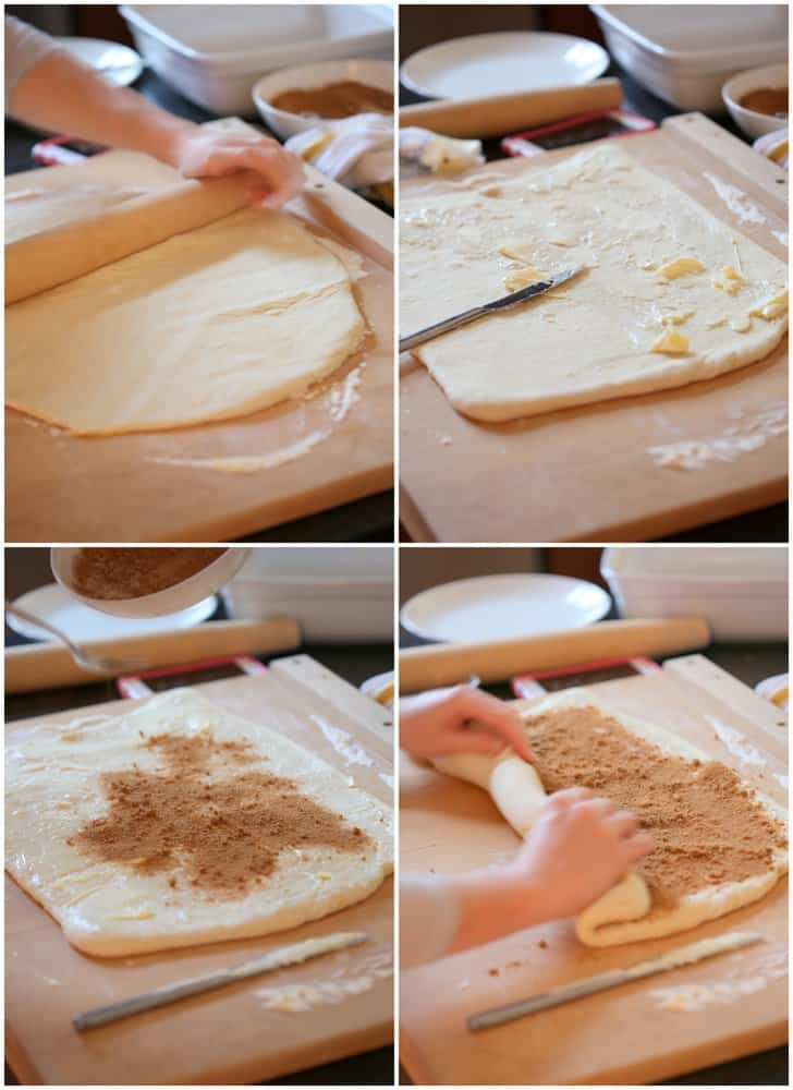1 Hour Easy Cinnamon Rolls Step-by-step process