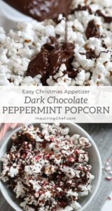 dark chocolate peppermint popcorn