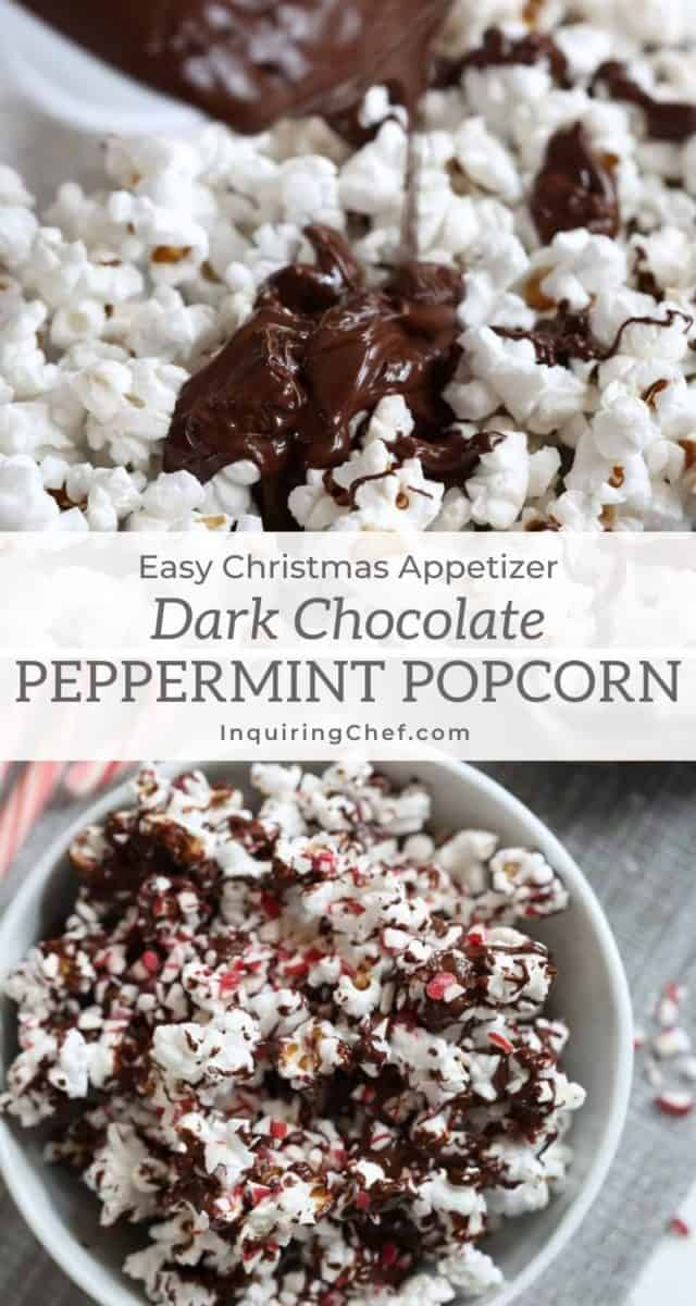 dark chocolate peppermint popcorn