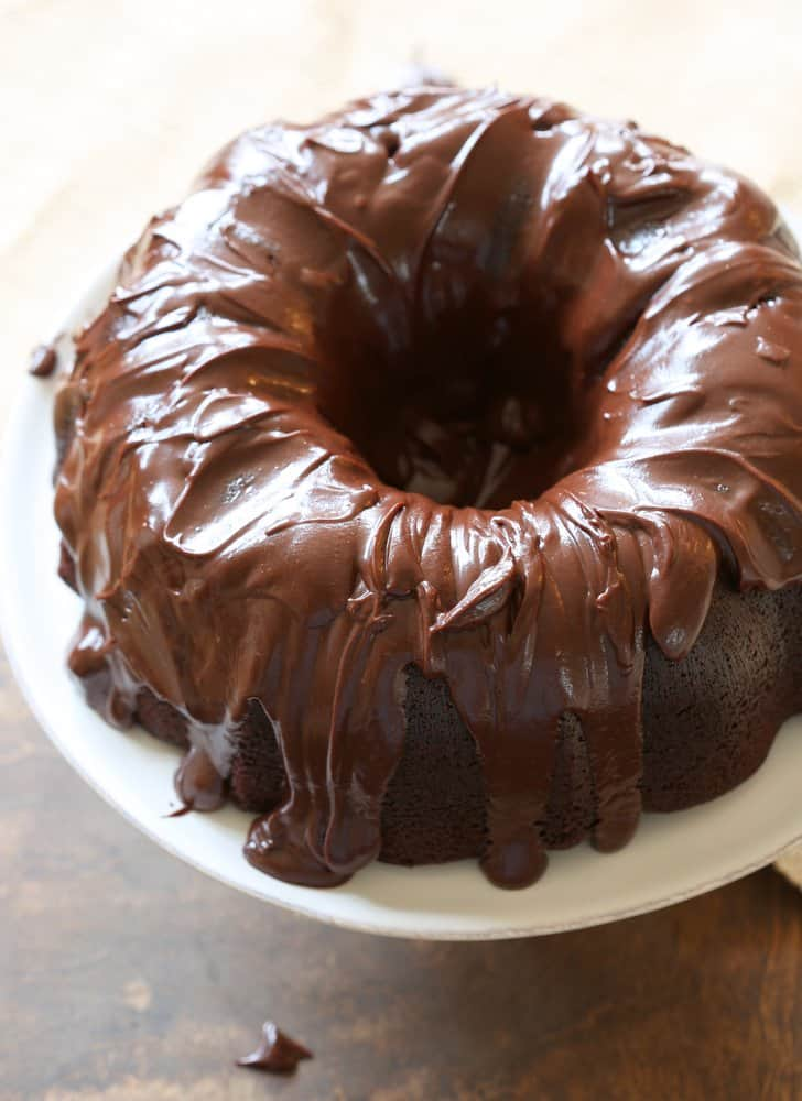 The Best Chocolate Bundt Cake with Chocolate Glaze