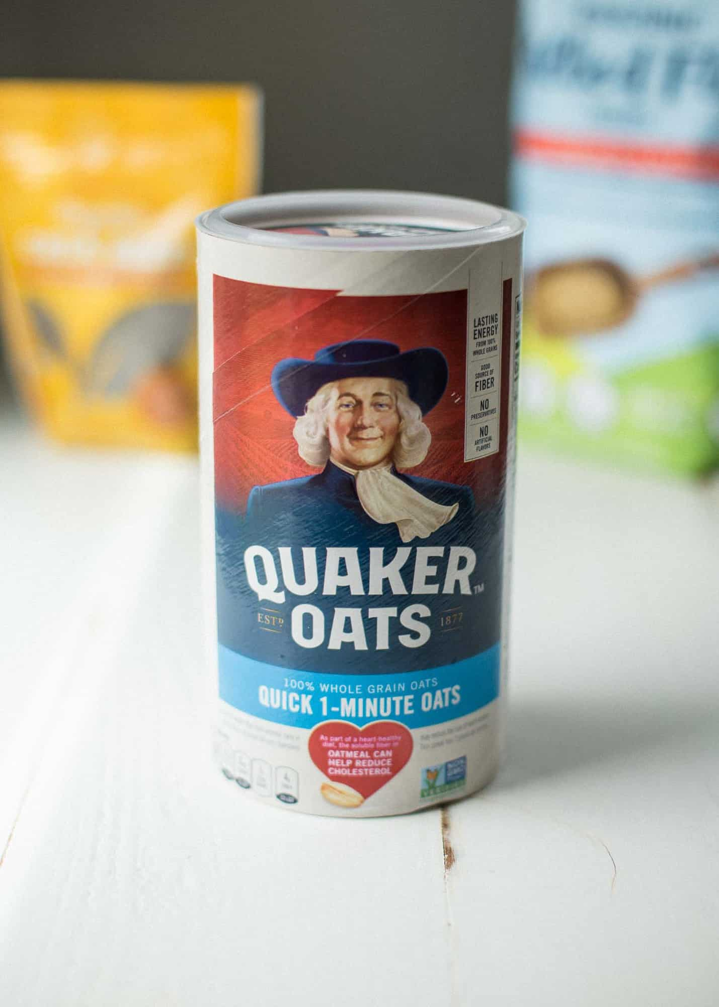 canister of oatmeal