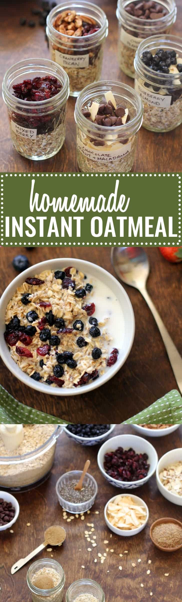 Homemade Instant Oatmeal - save time and money!
