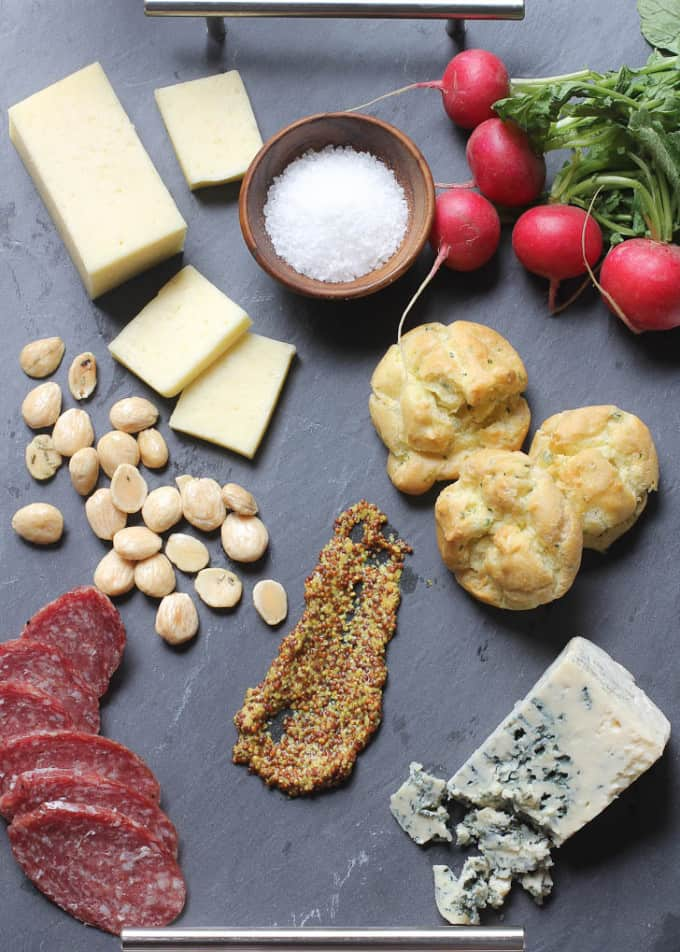 a spring cheese board