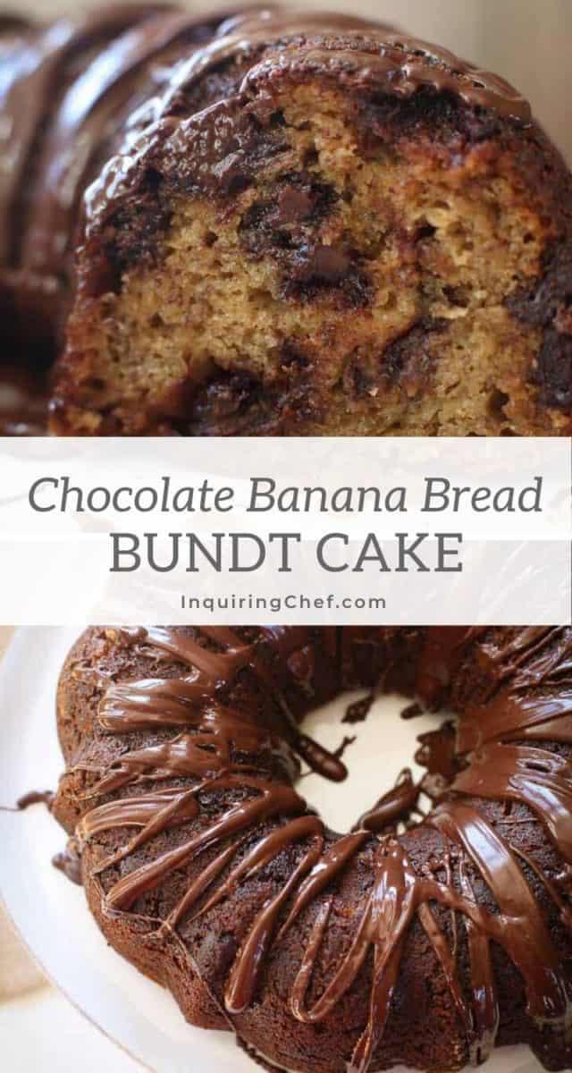 chocolate banana bread bundt cake