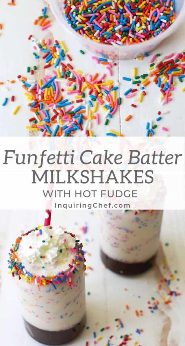funfetti cake batter milkshakes