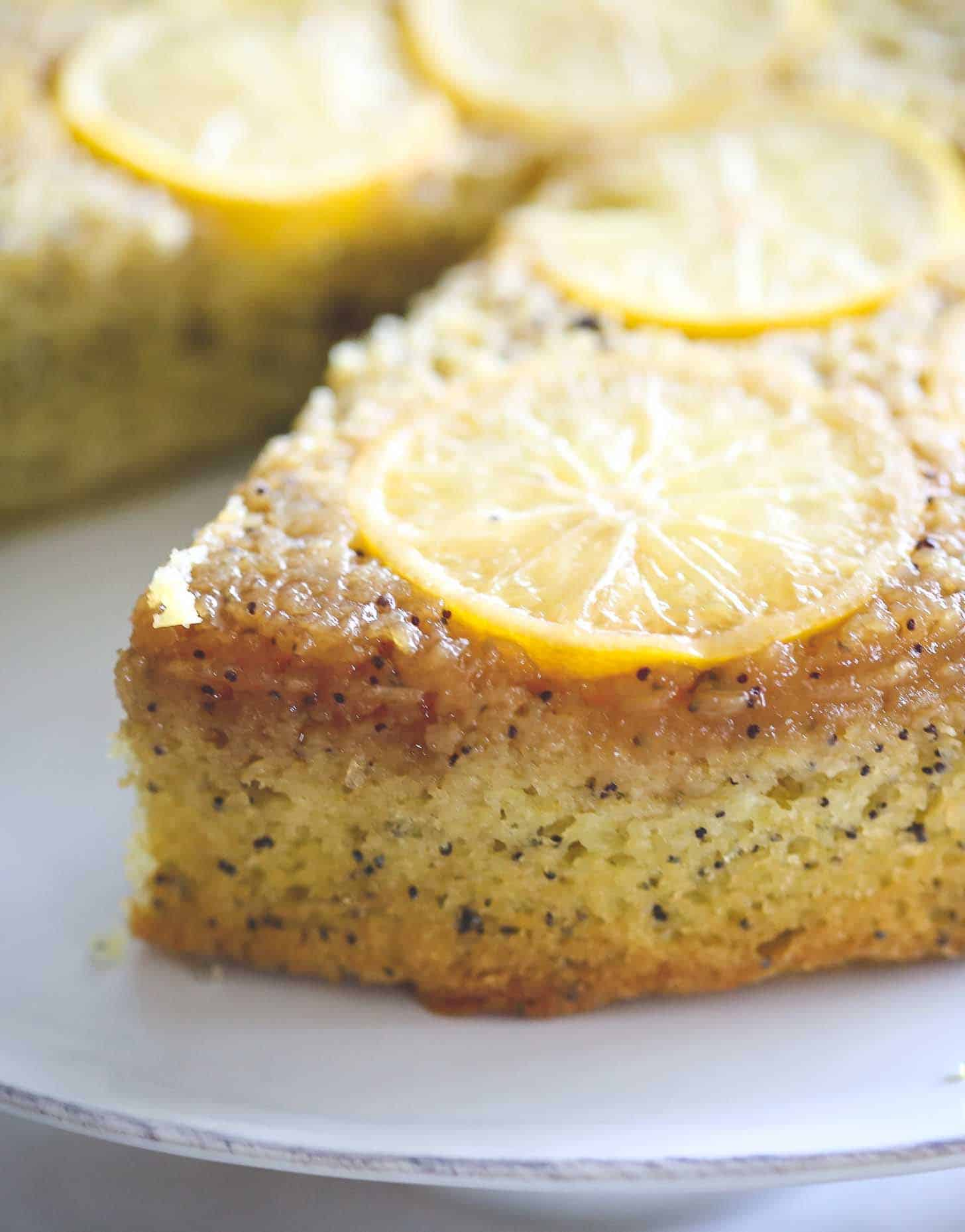 close up of lemon cake