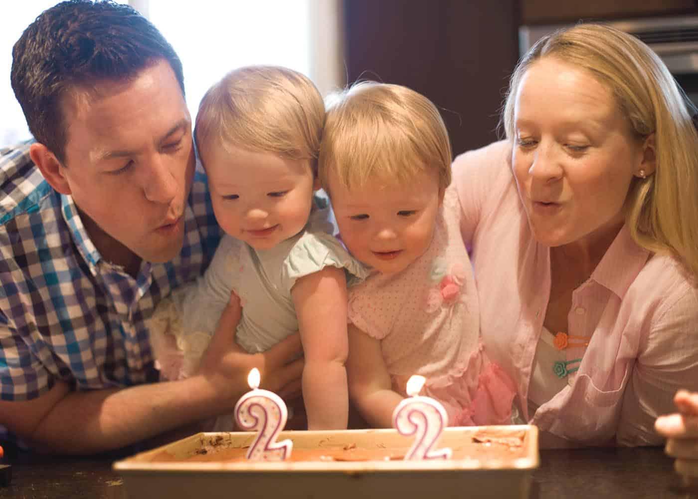 Molly and Clara Second Birthday_