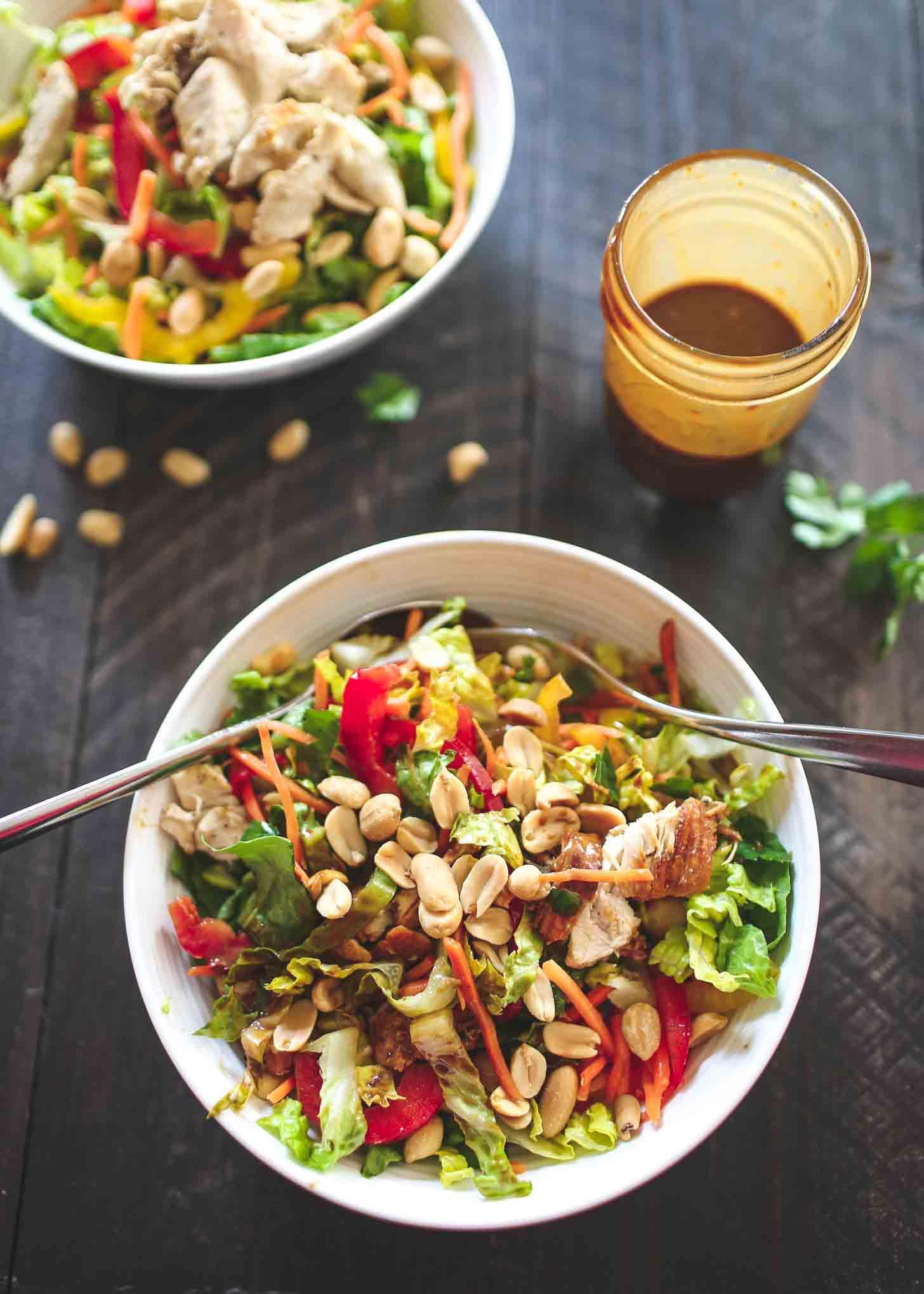 Chicken Salad in white bowls