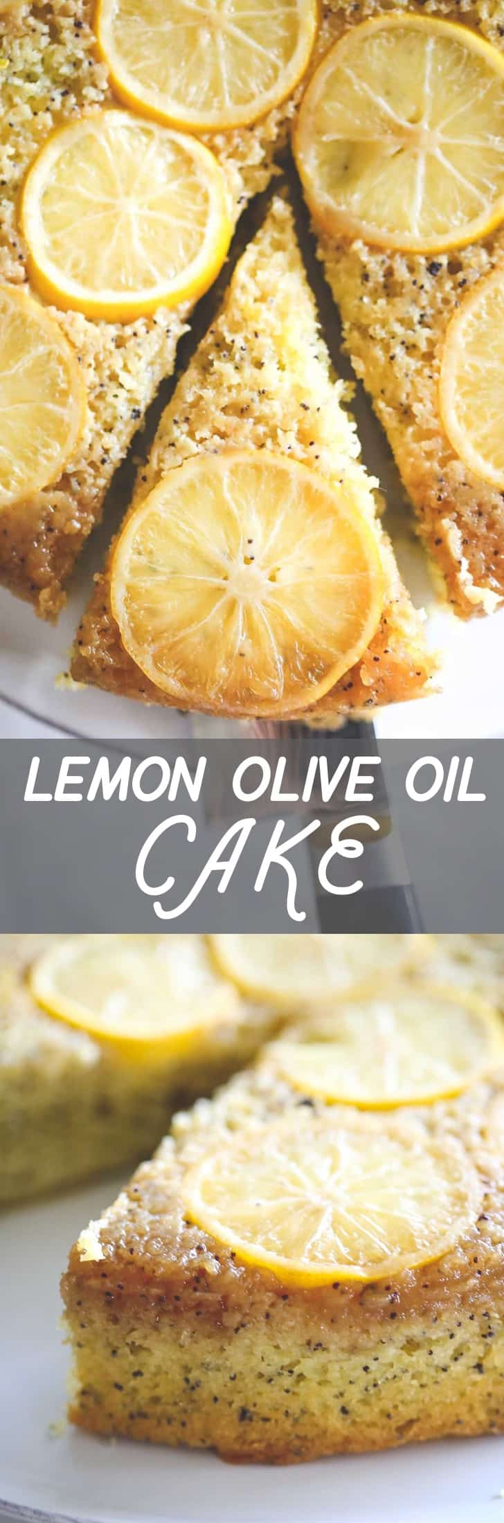 Lemon Olive Oil Cake - Baking this lemon and olive oil cake in the classic method of upside down cakes makes for a pretty presentation. Simple, light and fresh, this cake stores well in the fridge for a 2-3 days, making it a perfect afternoon dessert pick-me-up alongside a cup of tea or coffee.