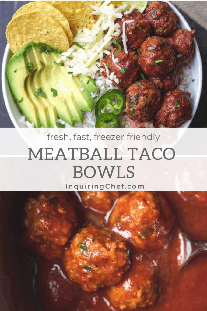 meatball taco bowls