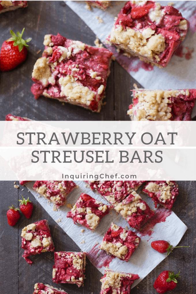 strawberry oat streusel bars