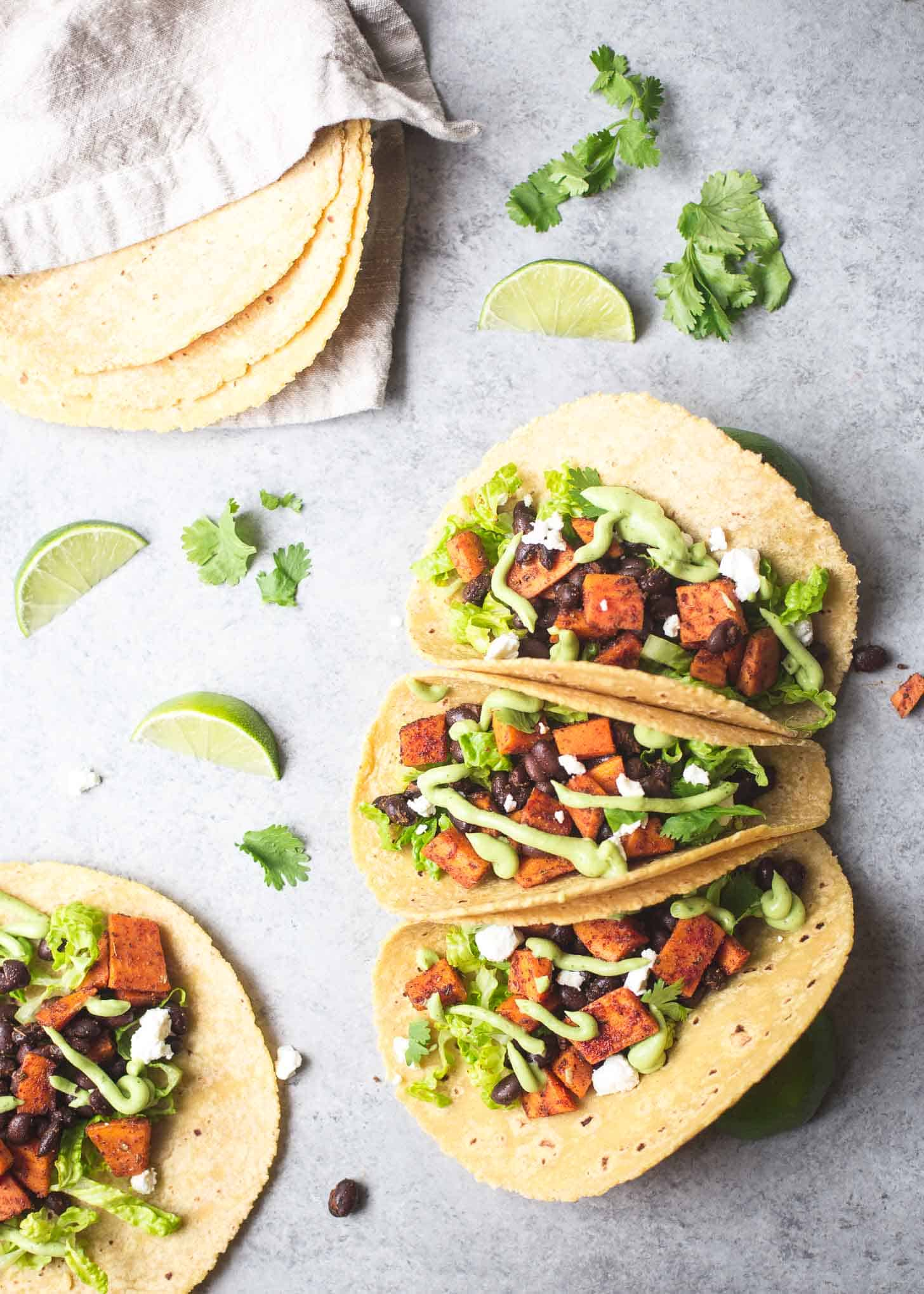 Sweet Potato Tacos with Goat Cheese