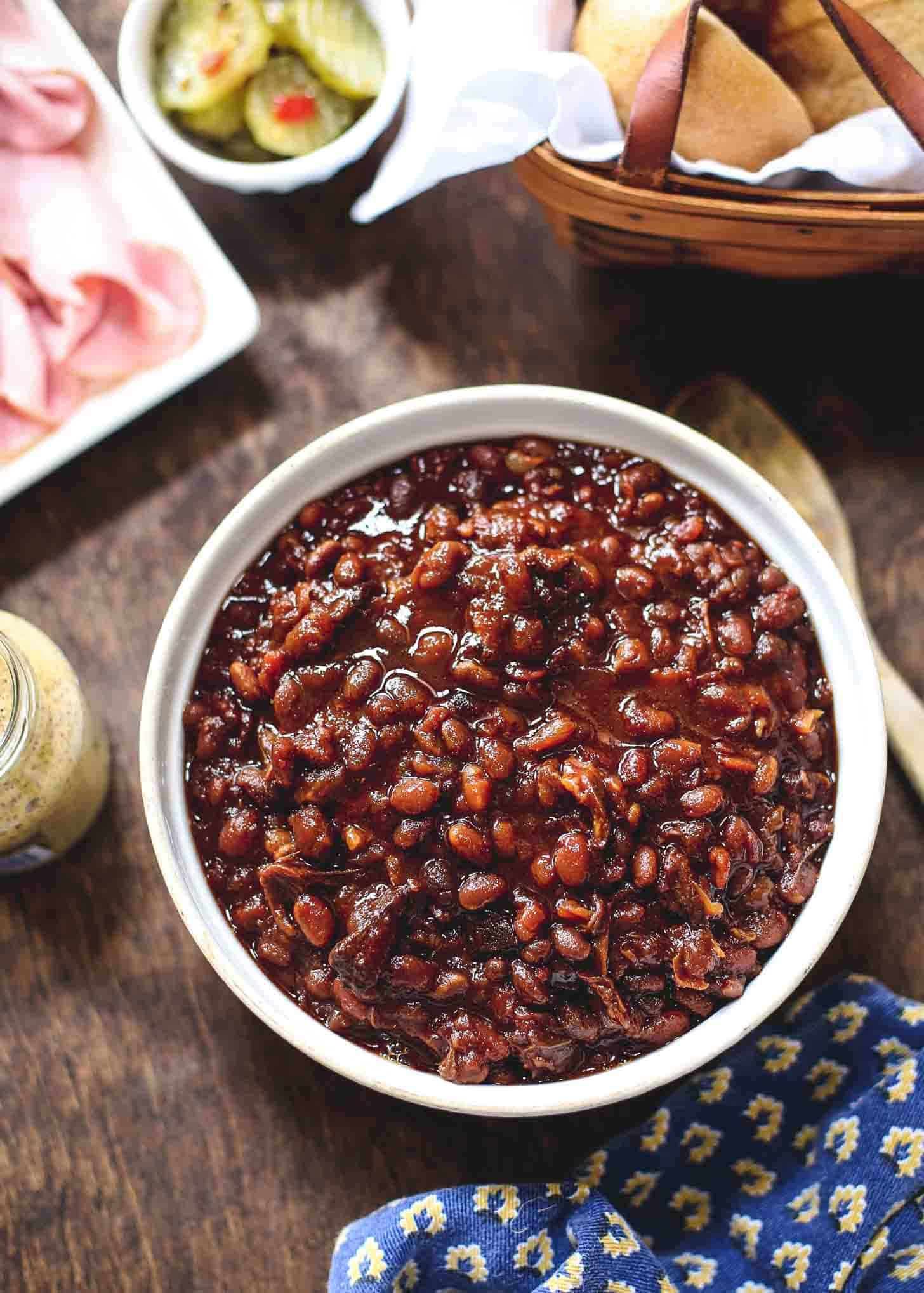 Slow Cooker Brown Sugar Baked Beans
