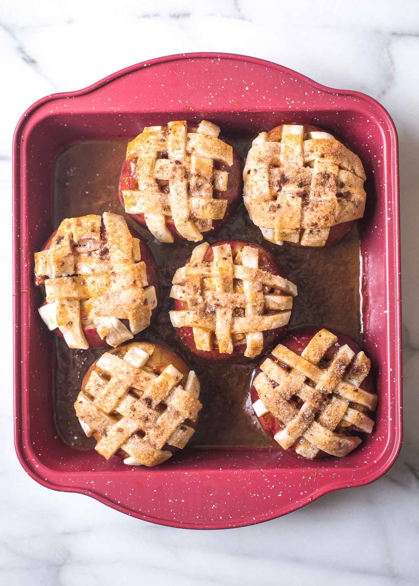 Caramel Apple Pie Baked Apples