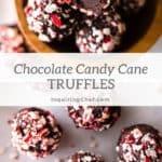 chocolate candy cane truffles