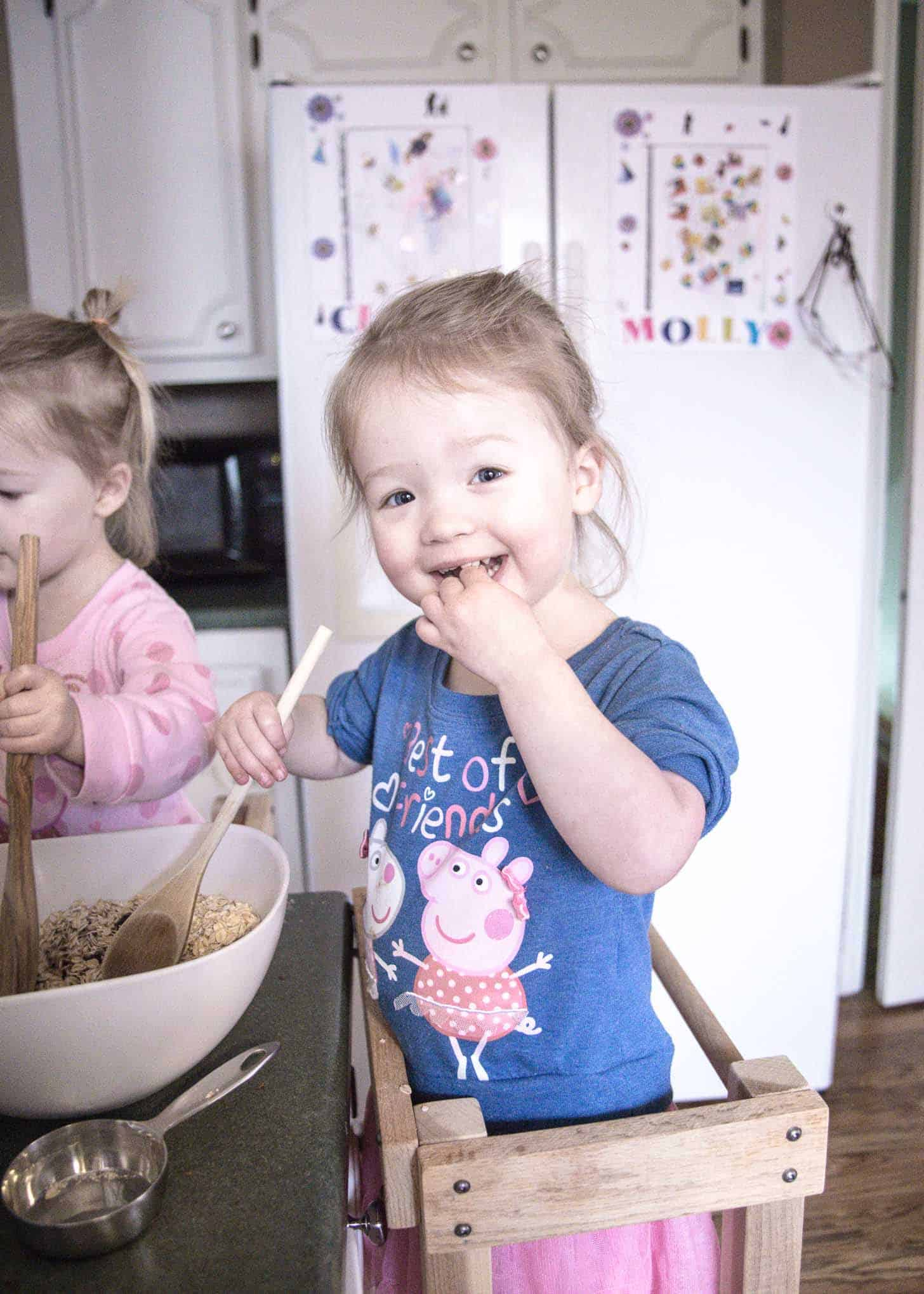 Molly and Clara_Chocolate Oat Bars - Baking with Toddlers