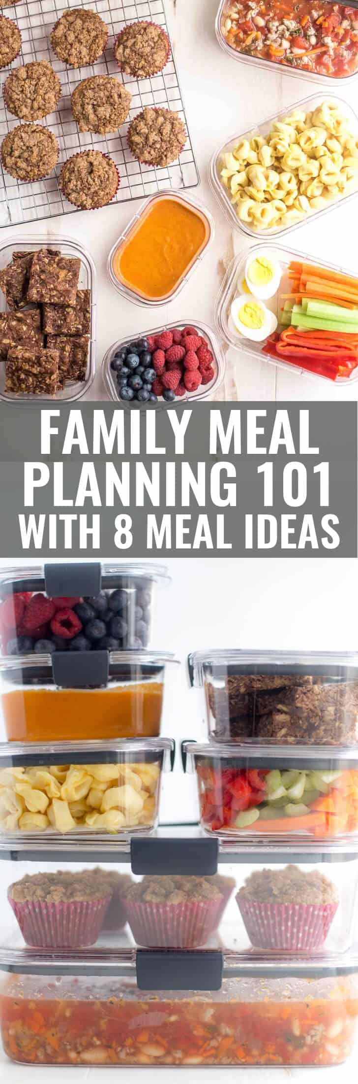 Family Meal Planning Basics with 8 ideas for easy family meals