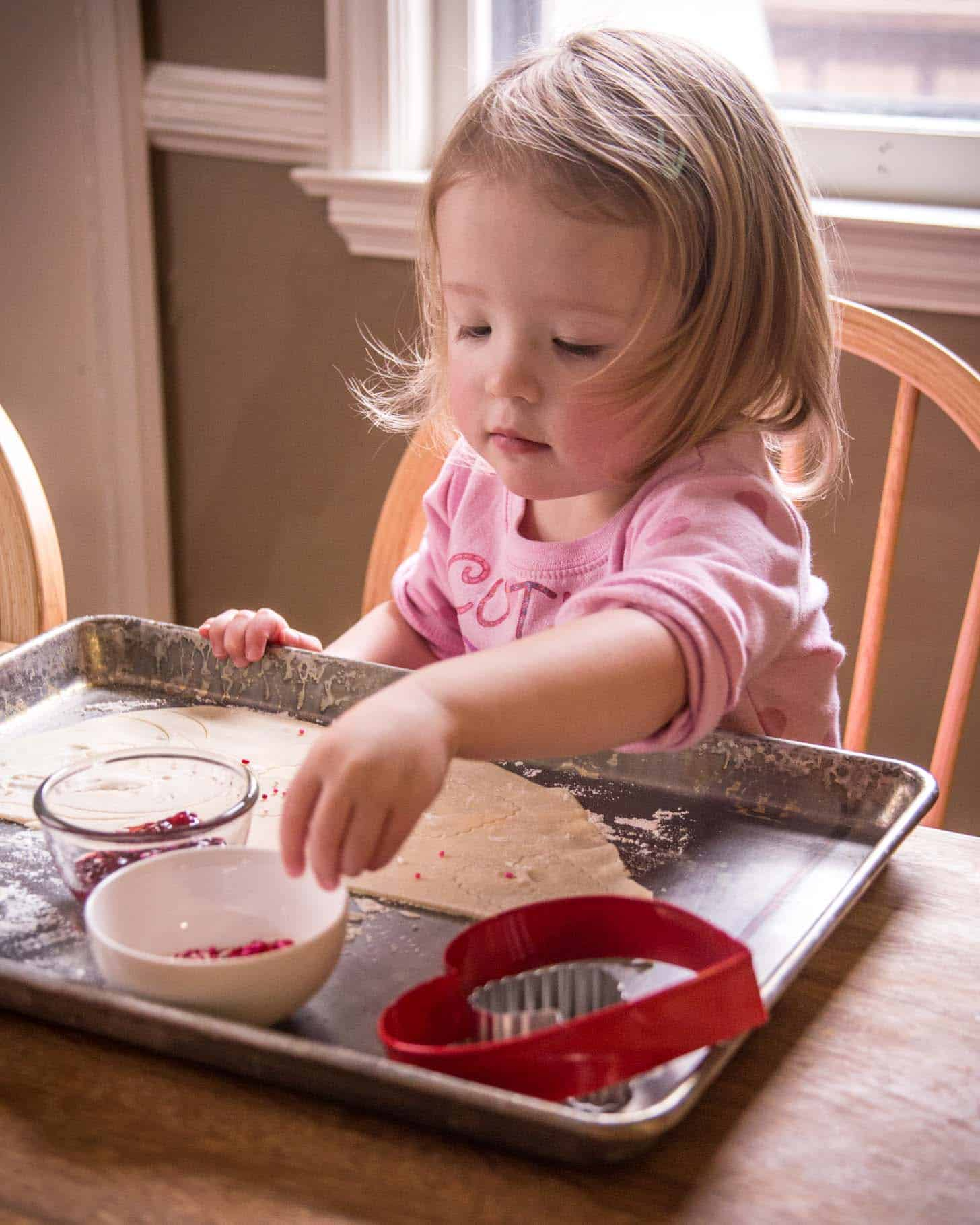 Clara_Strawberry Nutella Hand Pies - Baking with Toddlers