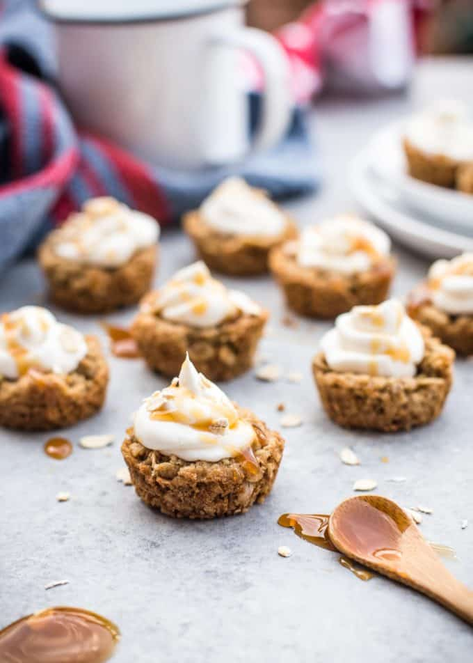 Brown Sugar Oatmeal Cookie Cups on a table