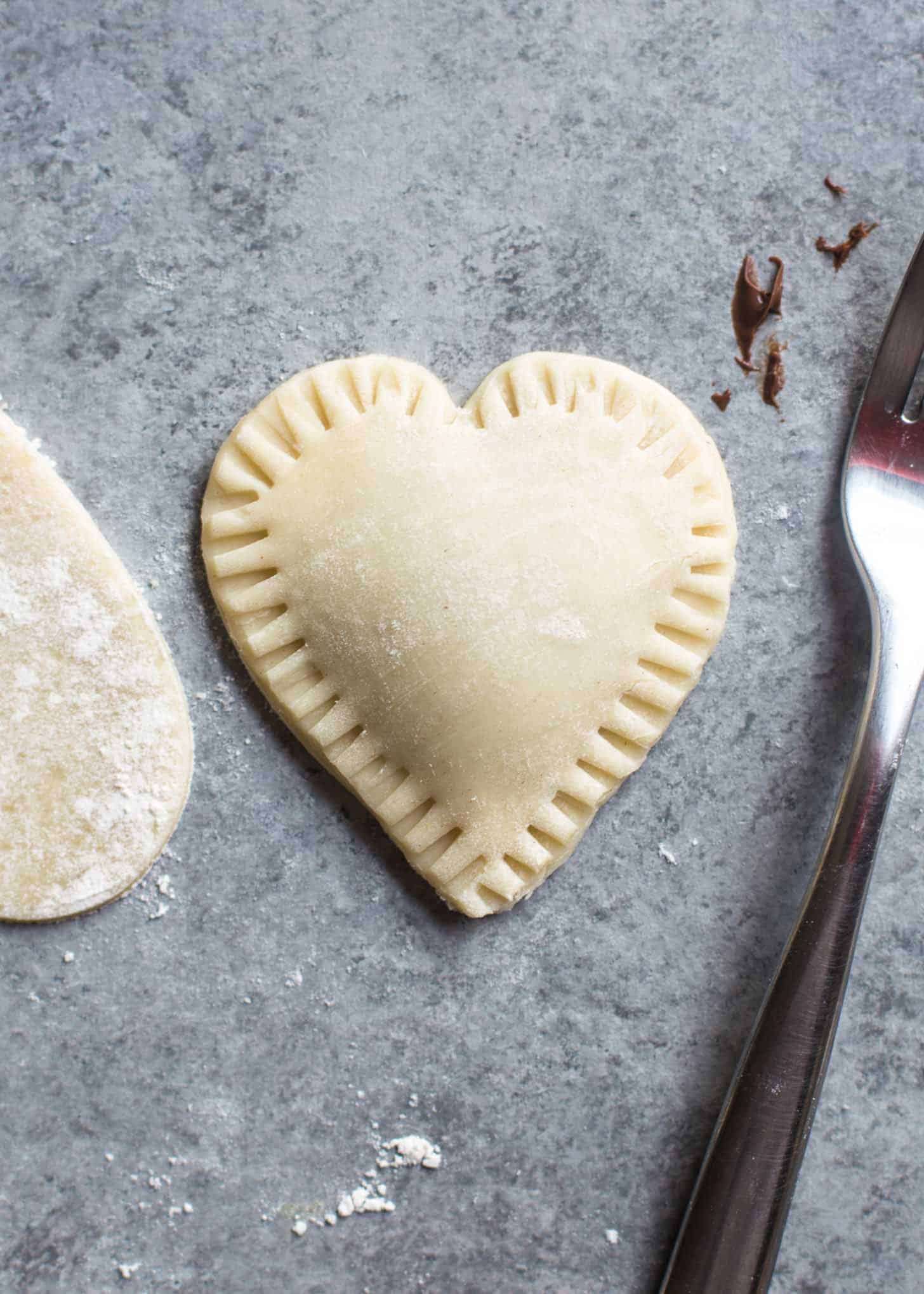 uncooked Strawberry Nutella Hand Pies