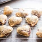 strawberry hand pies on a cooling rack