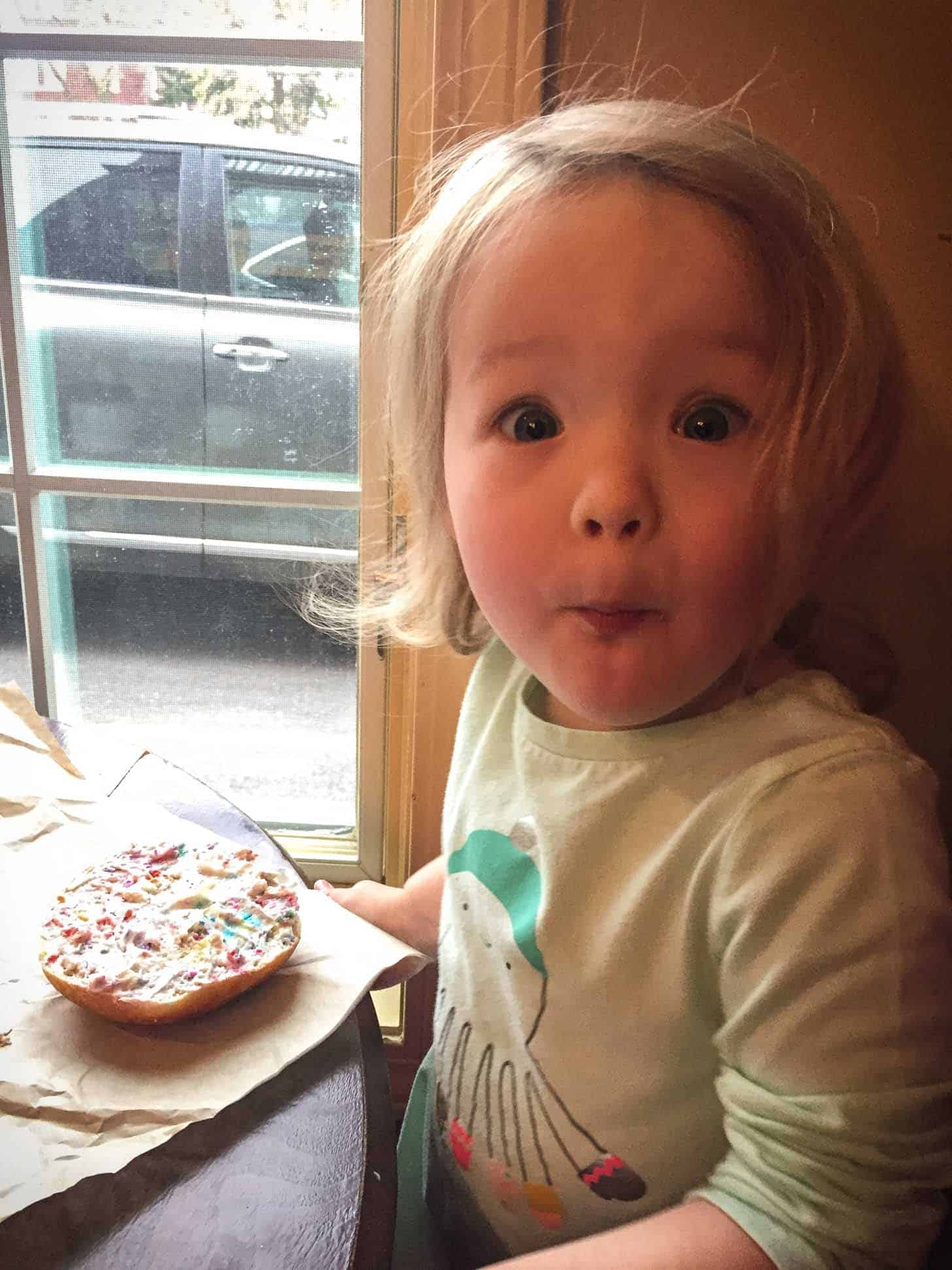 Molly_Birthday Cake Bagel