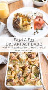bagel and egg breakfast bake
