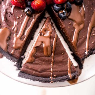 No Bake Double Chocolate Pie