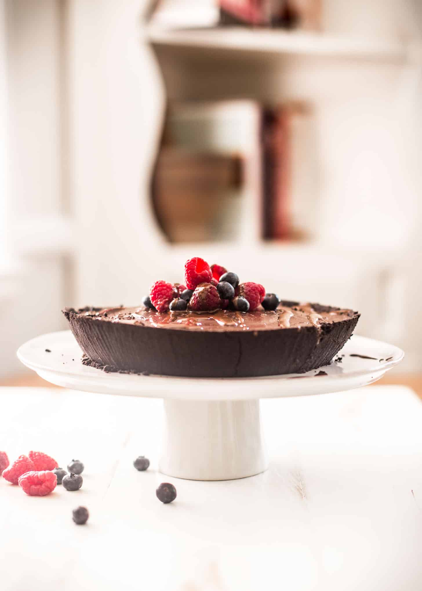 No Bake Double Chocolate Pie