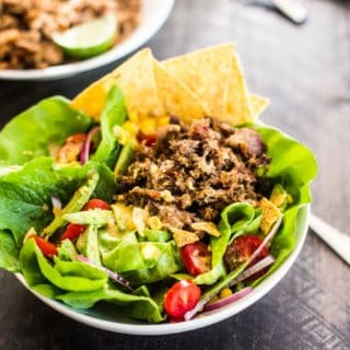 Slow Cooker Carnitas Taco Salad