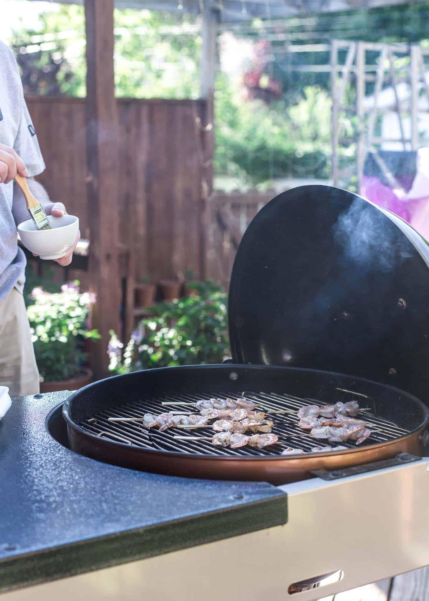 Grilling Shrimp Skewers