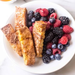 Baked Cinnamon French Toast Sticks-2