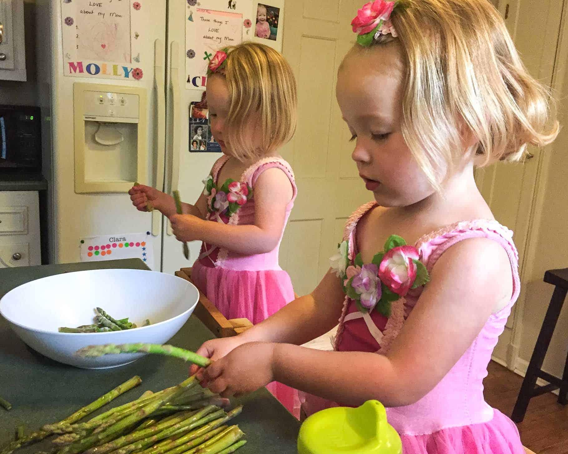 Molly and Clara_asparagus