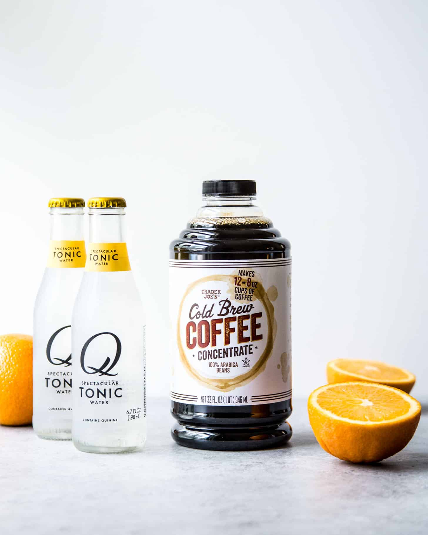 ingredients for cold brew coffee spritzers
