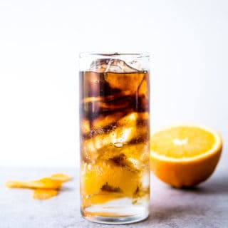 Coffee Spritzer in a clear glass