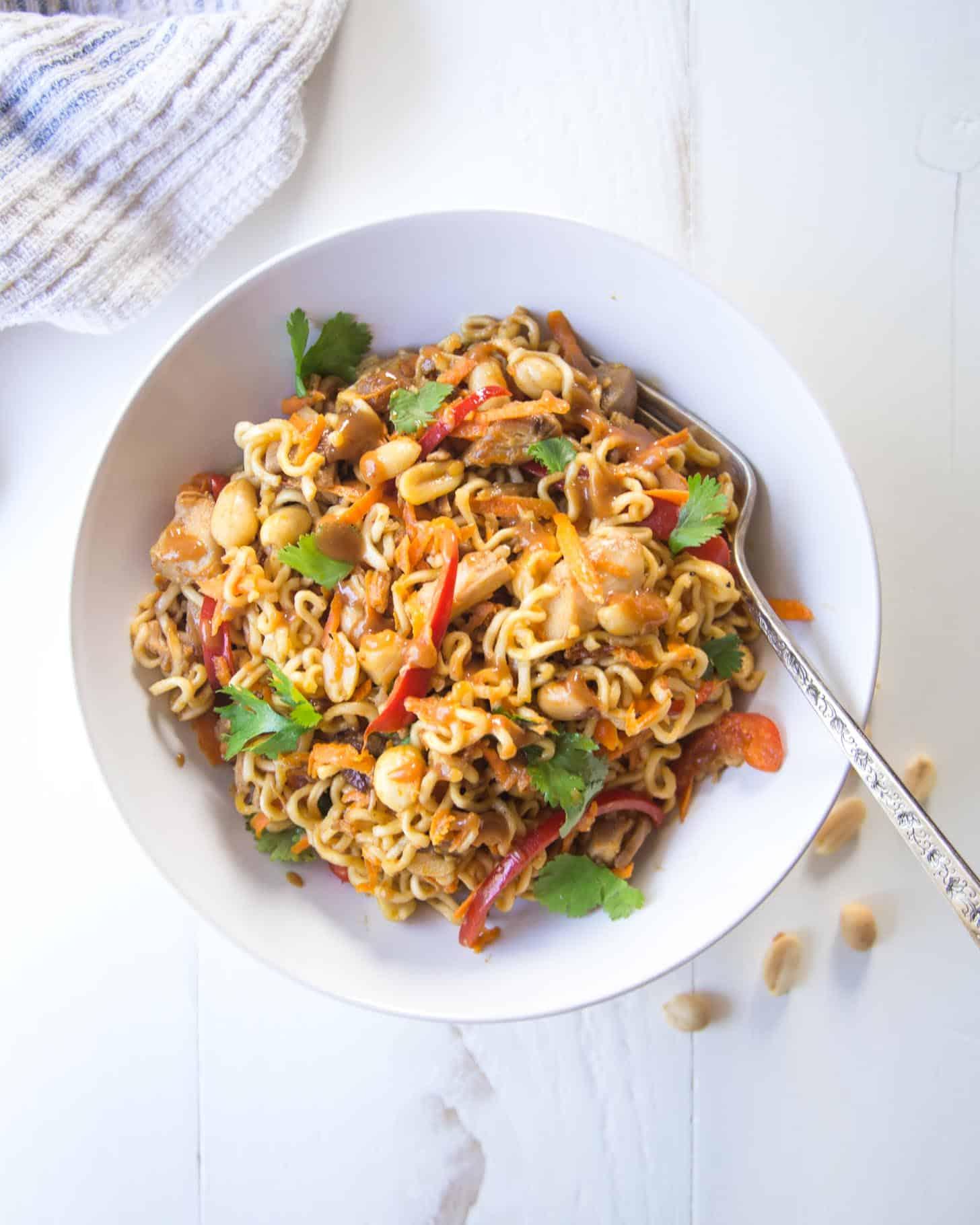 20 Minute Thai Chicken Peanut Noodles