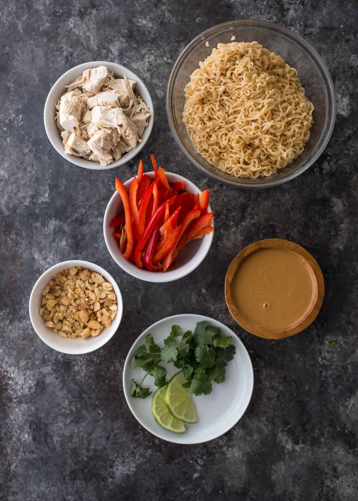 ingredients for thai peanut noodles