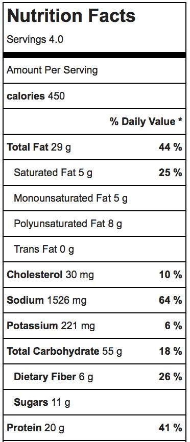 Thai Chicken Peanut Noodles_Nutrition
