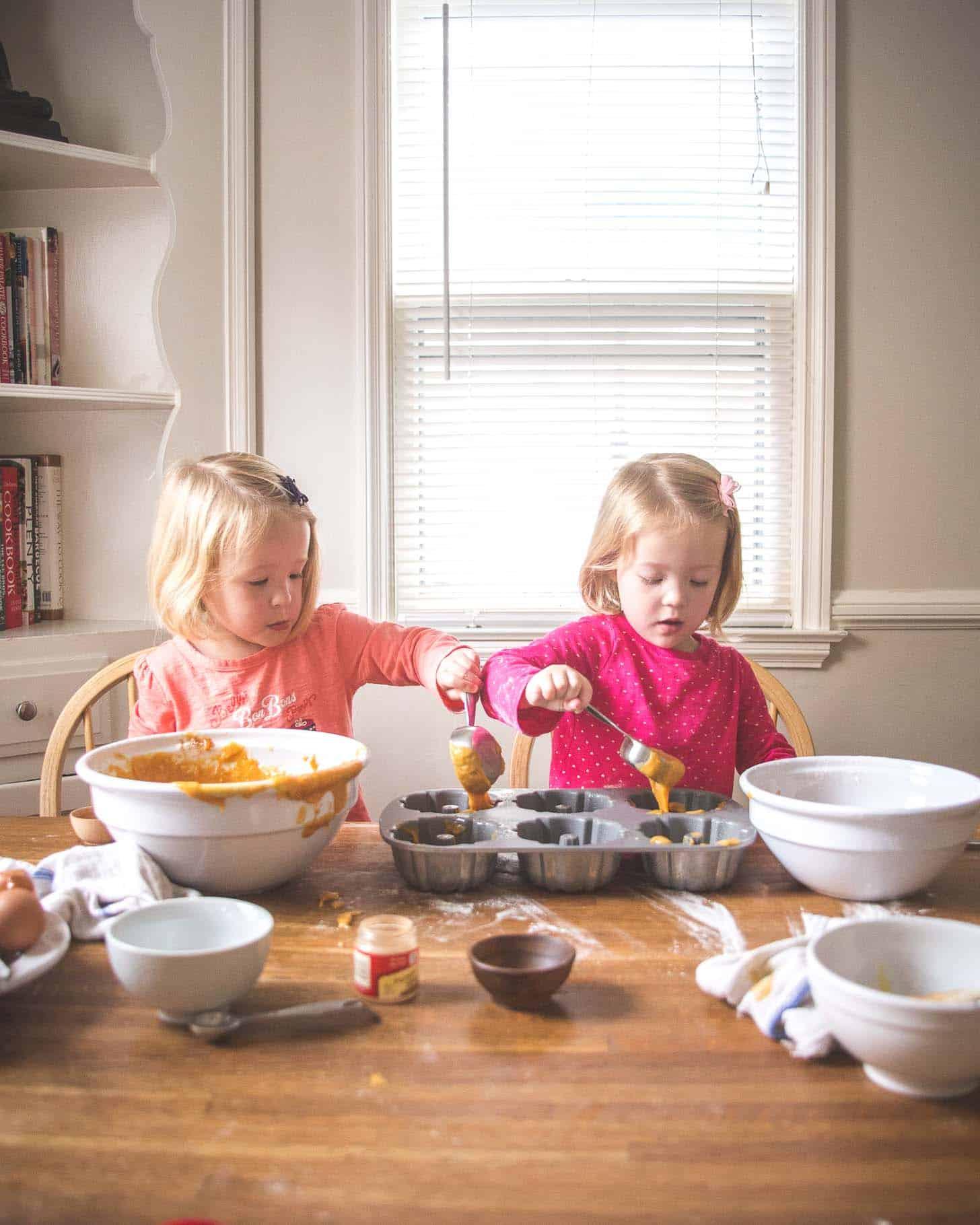 Baking with Molly and Clara