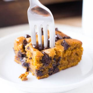Pumpkin Chocolate Chip Snack Cake