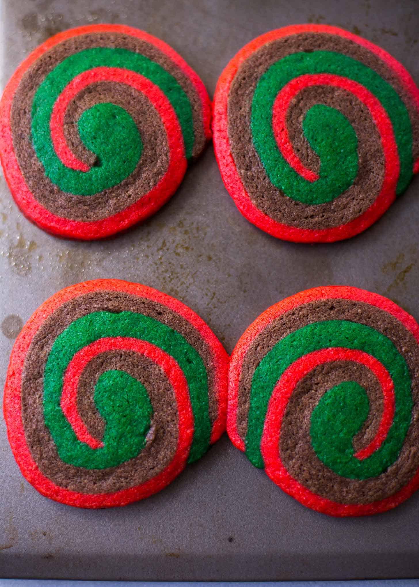Chocolate Mint Pinwheel Cookies