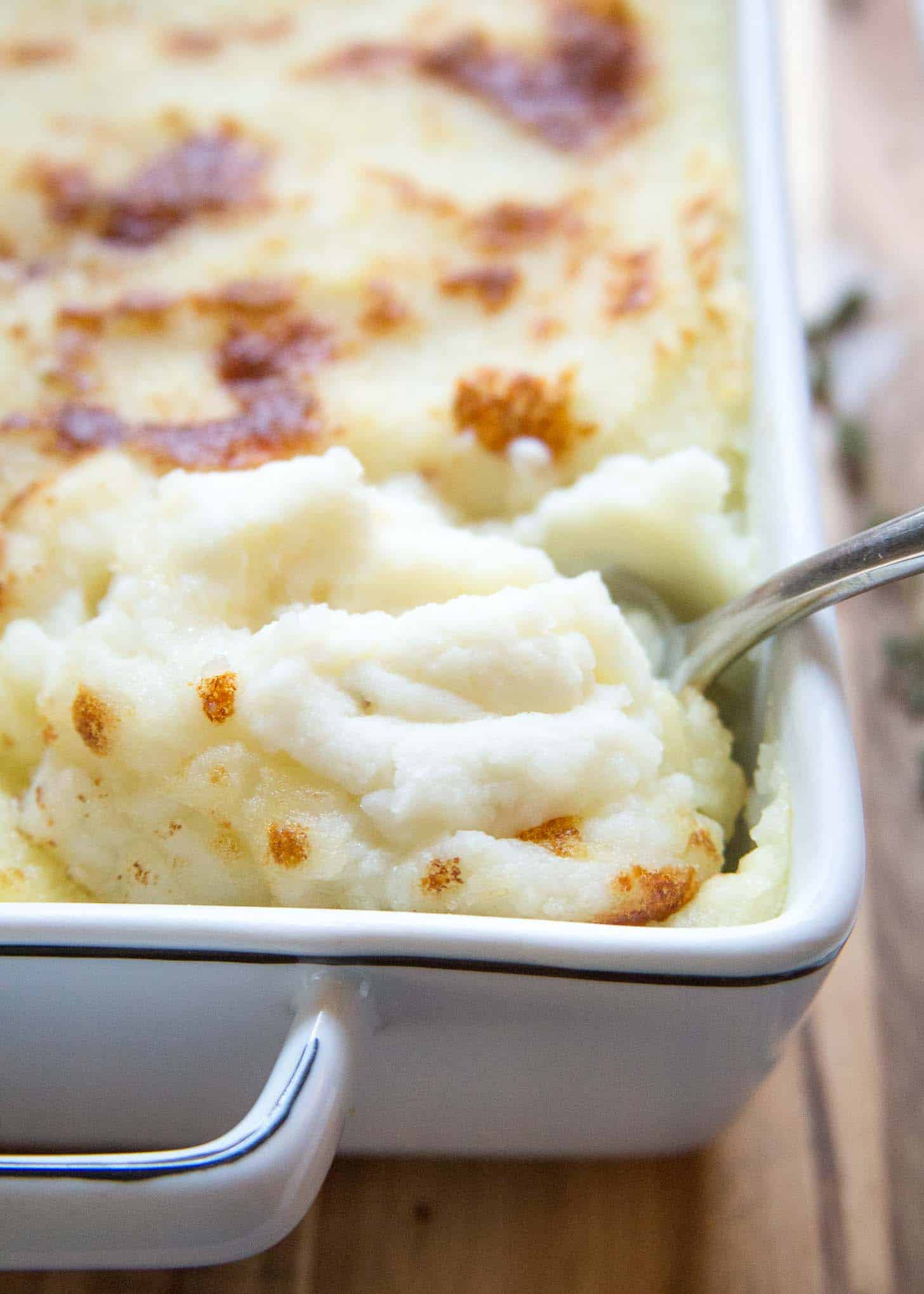 a spoonful of Mashed Potatoes